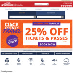 Click Frenzy: 25% off Premium Tickets and Passes @ Greyhound
