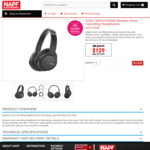 Sony CH700N Wireless Noise Cancelling Headphones WHCH700NB $129 Delivered @ NAPF Electronics