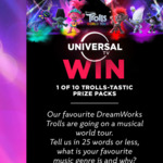Win 1 of 10 Trolls World Tour Prize Packs Worth $412.92 from NBCUniversal International Networks Australia