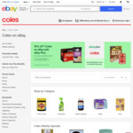[eBay Plus] 10% off Coles eBay, Free Delivery over $49, Max Discount $100
