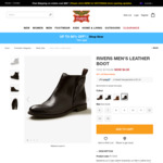 Mens Leather Boots  $4.95 (Was $119.99) +Shipping @ Rivers