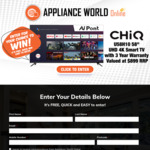"""Win a CHiQ 58"""" UHD 4K Android Smart TV Worth $899 from Appliance World Online"""
