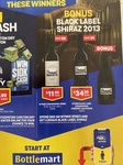 Spend $80 on Wynns Wines and Get a Bonus Black Label Shiraz @ Bottlemart in Store