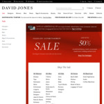 Up to 50% off Men's and Women's Selected Fashion @ David Jones Boxing Day Sale
