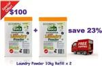 2 x Euca Laundry Powder 10kg Refill Box $100 Delivered ($5/kg) @ Euca Online