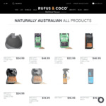 20% off Sitewide + $6.95 Delivery/ $0 with $50 Order @ Rufus & Coco