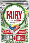 Fairy Platinum Plus Dishwasher Tablets Lemon, 45 Tablets $17 ($15.30 S&S) + Delivery ($0 with Prime/ $39 Spend) @ Amazon AU