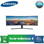 """[Afterpay] Samsung LC49J890DKEXXY 49"""" 1080p VA 144Hz Curved Gaming Monitor $1159.20 Delivered @ Wireless 1 eBay"""