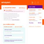 amaysim Unlimited Prepaid Mobile Plans: 6-Month 125GB $90 (Was $150), 12-Month 120GB $140 @ amaysim