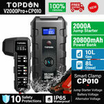 [eBay Plus] TOPDON V2000 PRO 2000A Car Jump Starter & 20800mAh Power Bank with QC3.0, USB-C $159.99 Delivered @ oz_garden eBay