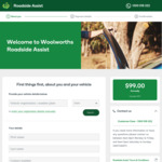 Woolworths Road Assistance $79 for 1-Year (Was $99) + 5% off any Woolies shop @ Woolworths Insurance
