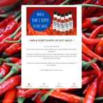 Win a Years Supply of Hot Sauce Worth $128 from Billy B's Fermented Hot Sauce