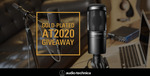 Win a 24-Karat Gold Plated Audio-Technica AT2020 Microphone from Audio-Technica