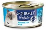 FREE - Gourmet Delight Tuna and Crab Cat Food 85g Can from PinchMe