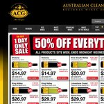 ACG Cleanskin Wine – 50% OFF EVERYTHING, all products site wide. 1 DAY ONLY!