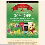Lindt Cafe Easter 30% off