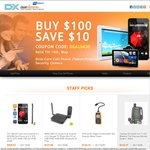 Buy $100 Save $10 @ DX.com AU Direct on Octa-Core Cell Phone /Tablet/Projector/ Security Camera
