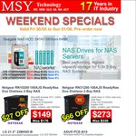 MSY - Seagate NAS HDD Sale e.g. 4TB - $215 (Save $14)