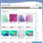 50% off Fabrics Online (and Instore) at Lincraft until 27th July 2014