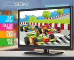 """Seiki Full HD 24"""" LED TV w/ Built-in DVD Player $111.75 + Shipping ($10.59 ~ $20) from COTD"""