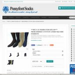 10 Pairs of Mens Pussyfoot Mercerised Cotton Socks for $50 + Free Shipping @ Pussyfoot Socks