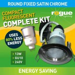 $6 CFL Downlight Kits Complete w Fitting and 13W Globe - FREE Shipping over $100 @ GoLights