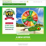 Woolworths Online VIP Sale $15 off, Min Spend $150