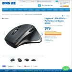 Logitech Wireless Performance Mouse M950T - $79 in-store/online at Bing Lee ($139.95 RRP)