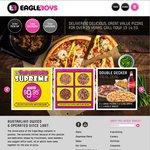 Family Size Super Supremo Pizza $9.95 (4 Flavours Incl Chicken & Bacon) @ Eagle Boys