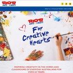 50% off Everything @ Riot Art & Craft (Brisbane CBD)