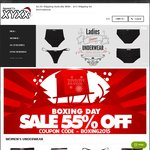 55% off all Mens and Ladies Underwear at XYXX Apparel Australia