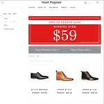 Hush Puppies Shoes for $59 @ Hush Puppies Store