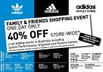Adidas 40% Off Storewide - Family & Friends Event