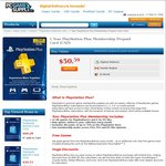 PlayStation Plus Card Canada (AUD $50.56) - Works on US Accounts @ PC Game Supply