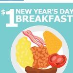 $1 Breakfast (Scrambled Egg, Bacon, Sausage, Hash Brown, Baked Beans & Tomato) @ IKEA SA & WA [1/1/2017]