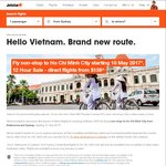 Jetstar to Vietnam (MEL/SYD to SGN) - $159 One Way - Approx $320 Return