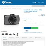 Swann HD 1080p Dash Camera with LCD Screen - 130DCM for $49.95 (Was $99.95) + $16 Shipping @ Swann Store