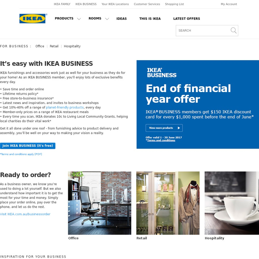 free 150 ikea gift card for every 1000 spent business members requires abn nsw vic qld. Black Bedroom Furniture Sets. Home Design Ideas