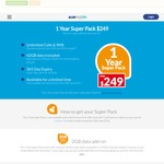 ALDImobile - 1 Year Prepaid Super Pack $249 (Unlimited Calls, SMS, MMS, 42GB Data)