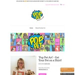 Pop Pet Shirts - Get Your Pet Drawn on a Shirt - $19.95USD ($25.91) Delivered (Normally $39.95USD + Shipping)