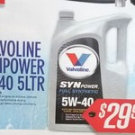 Valvoline Synpower Fully Synthetic 5w-40 5L $29.95 @ Auto One