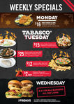 BOGOF Burgers Every Wednesday + Other Meal Deals @ TGI Fridays (VIC/NSW/SA)