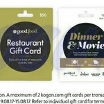 10% off Gift Cards - Events Cinemas, Goodfood, Kogan @ Coles (Starts 9/8)