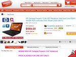 $569 HP Compaq Presario 15.6in LED Notebook Intel Dual Core, 500GB HDD, Free Case+Mouse+CA2010