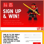 Win 1 of 5 LEGO Ninjago Prize Packs Worth $135.97 from UNIQLO
