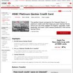 HSBC Platinum Qantas Credit Card - 60k Bonus Qantas Points on 3k Spend in 3 Months ($199 Annual Fee)