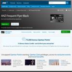 ANZ Qantas Frequent Flyer Visa Black (75k Qantas Points, 75 Status Credits, First Year Free)