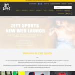 20% off First Purchase @ Zett Sports ($10 Shipping)