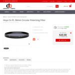 Hoya Cir-PL 58mm Circular Polarizing Filter $20 - Plus Free Shipping + More at DC Cameras