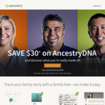 DNA Testing $99  (Was $129) + $29.99 Shipping  @ Ancestry